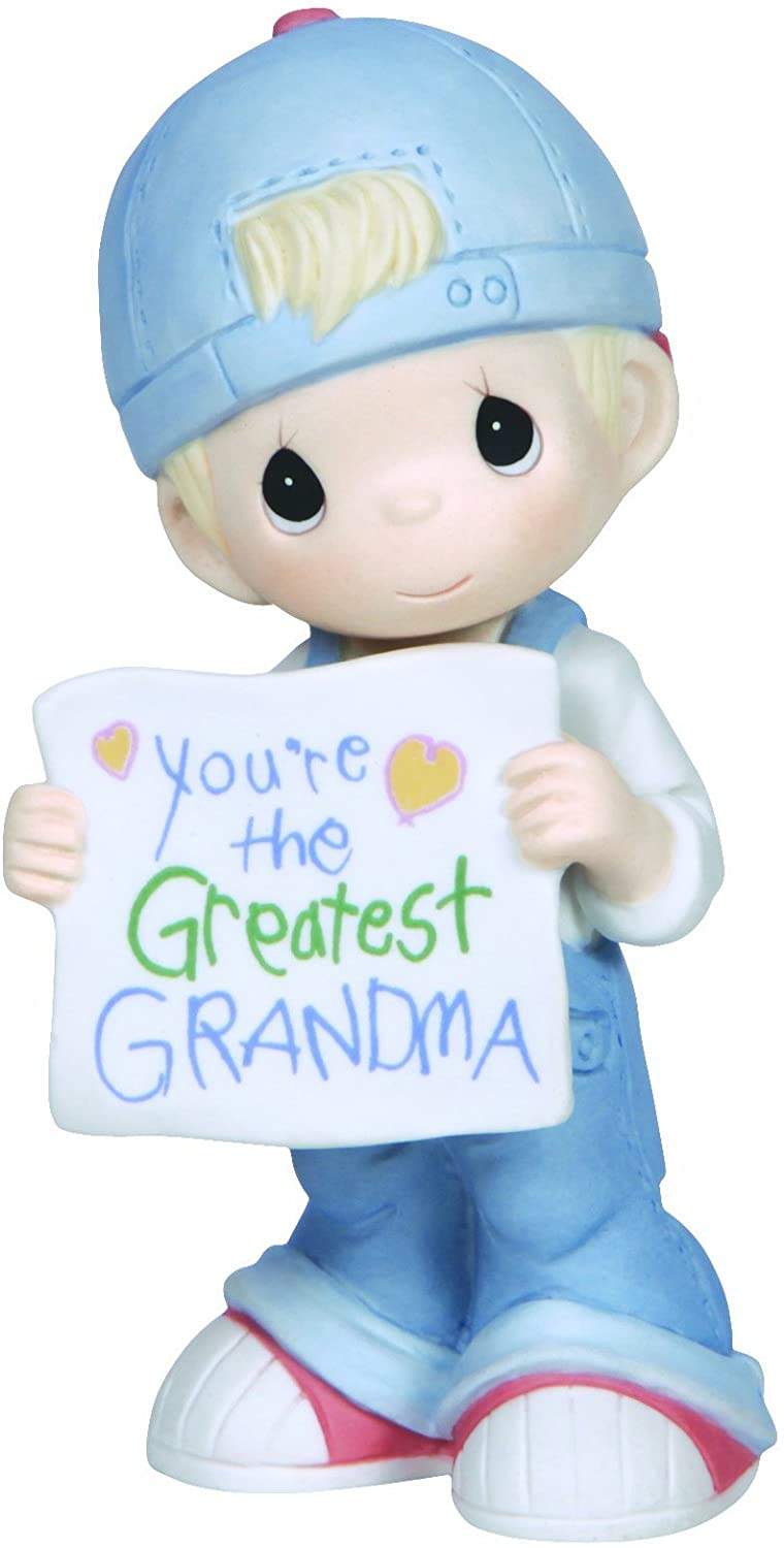 Precious Moments, Youre The Greatest Grandma, Bisque Porcelain Figurine, Boy, 133034