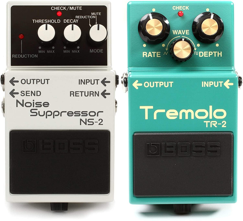 Boss NS-2 Noise Suppressor Pedal + Boss TR-2 Tremolo Pedal Value Bundle