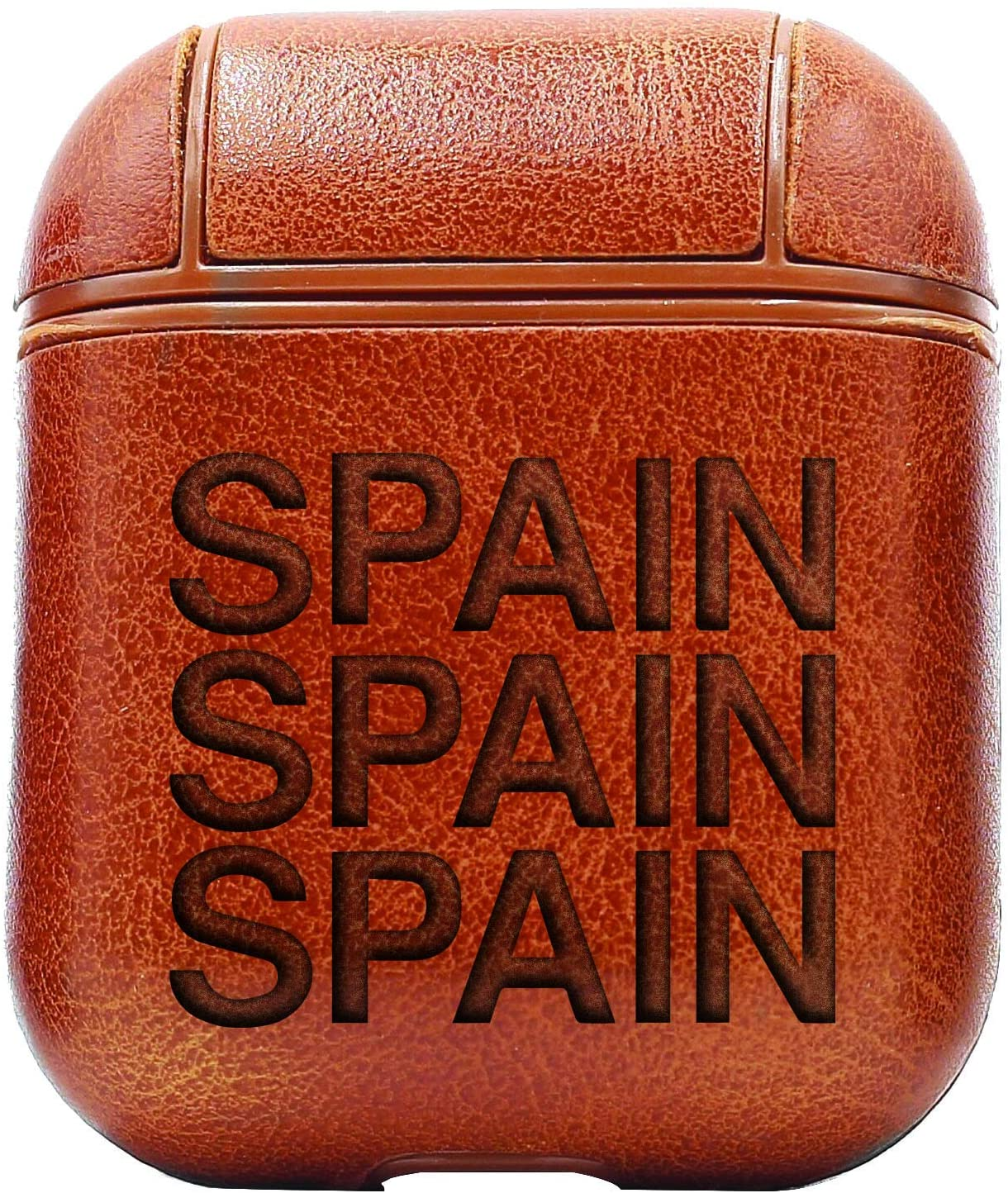 Spain (Vintage Brown) Air Pods Protective Leather Case Cover - a New Class of Luxury to Your AirPods - Premium PU Leather and Handmade exquisitely by Master Craftsmen