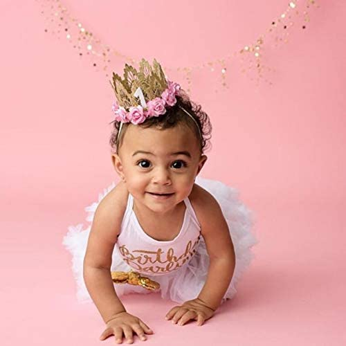 Little Story Baby Crown lace Headband Fashion Girl Head Accessories Hairband Baby Elastic Flower Crown Lace Headwear