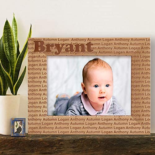 Center Gifts Logan Autumn Baby Personalized Wooden Picture Frame-7