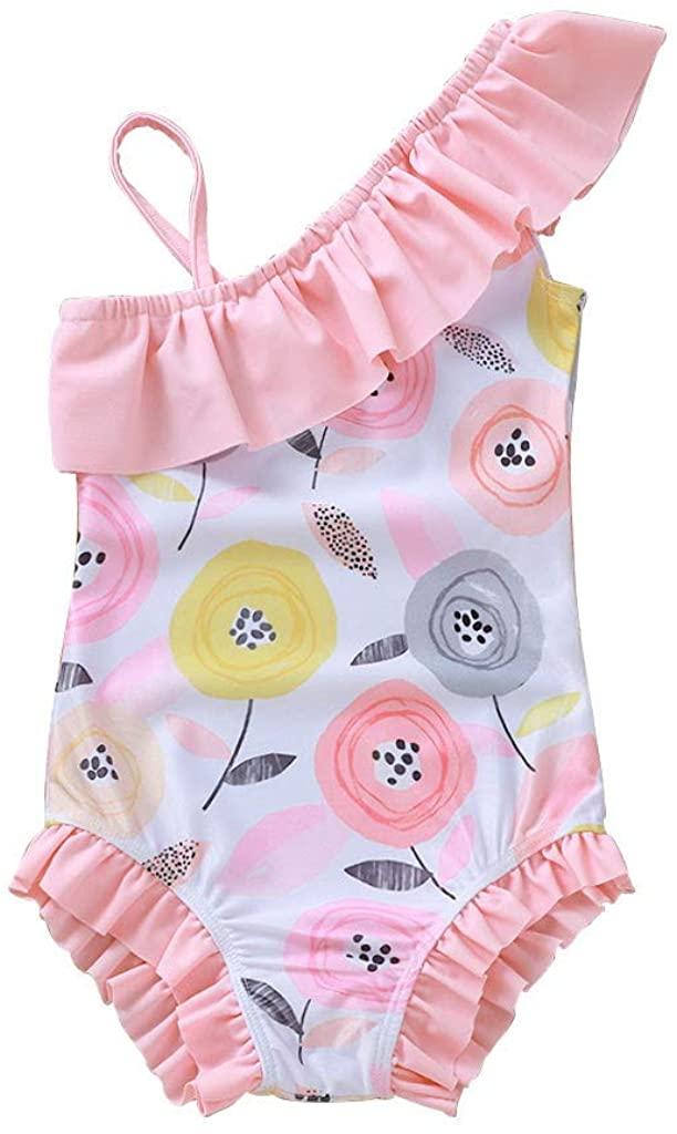 WXAN Toddler Kids Baby Girls Flower Bikini Swimwear Swimsuit Bathing Suit Beachwear