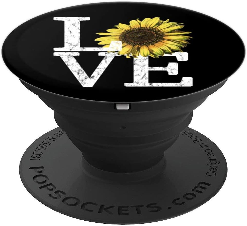 Sunflower Love Vintage Hippie Flower Nurse Mom Gift PopSockets Grip and Stand for Phones and Tablets