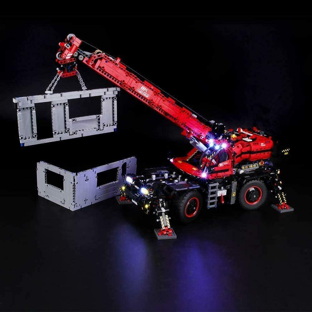 brickled Lighting kit for Rough Terrain Crane 42082 Technic (Model Set not Included)