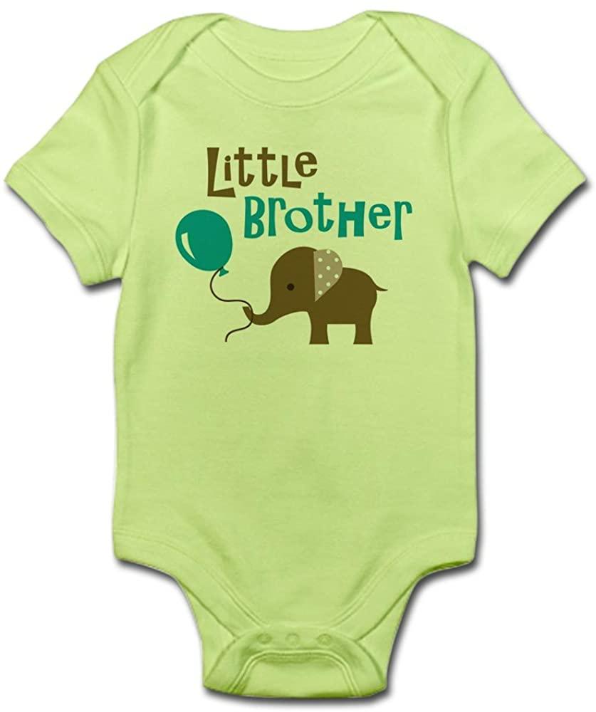 CafePress Little Brother - Mod Elephant Body Baby Bodysuit
