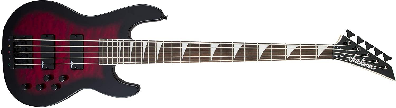 Jackson JS Series Concert Bass JS3VQ - Transparent Red Burst