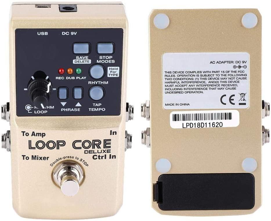 Neufday Guitar Loop Effect Pedal,Loop Core Deluxe Guitar Looper 8 Hours Loop Time 24-bit Audio Automatic Tempo Detection wit