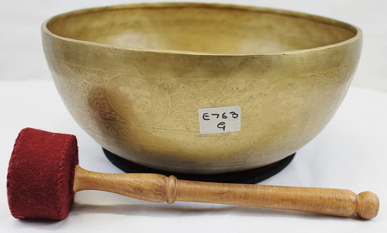 E763 11.25 Energetic Throat G Chakra Healing Hand Hammered Tibetan Singing Bowl Made in Nepal