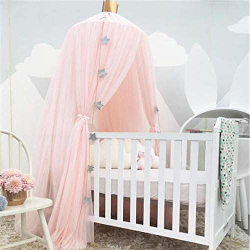 Atyhao 240cm Height Bed Canopy Round Dome Mesh Mosquito Net Bedding Netting for Bedroom Use Baby Crib Bedding Crib Netting
