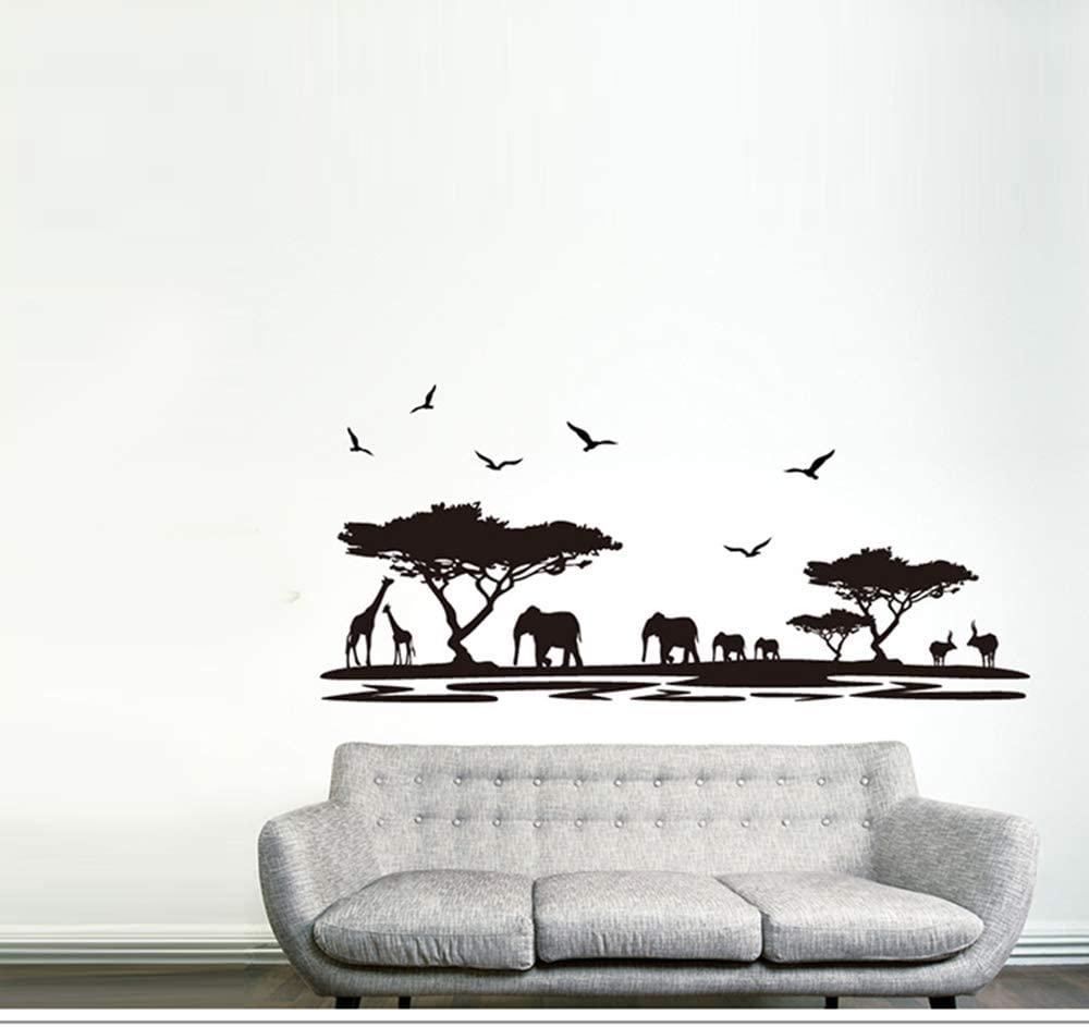 Wildlife Wild Animal Wall Sticker Veld Decal Art Vinyl Decor Removable PVC Decoration for Home Room Nursery