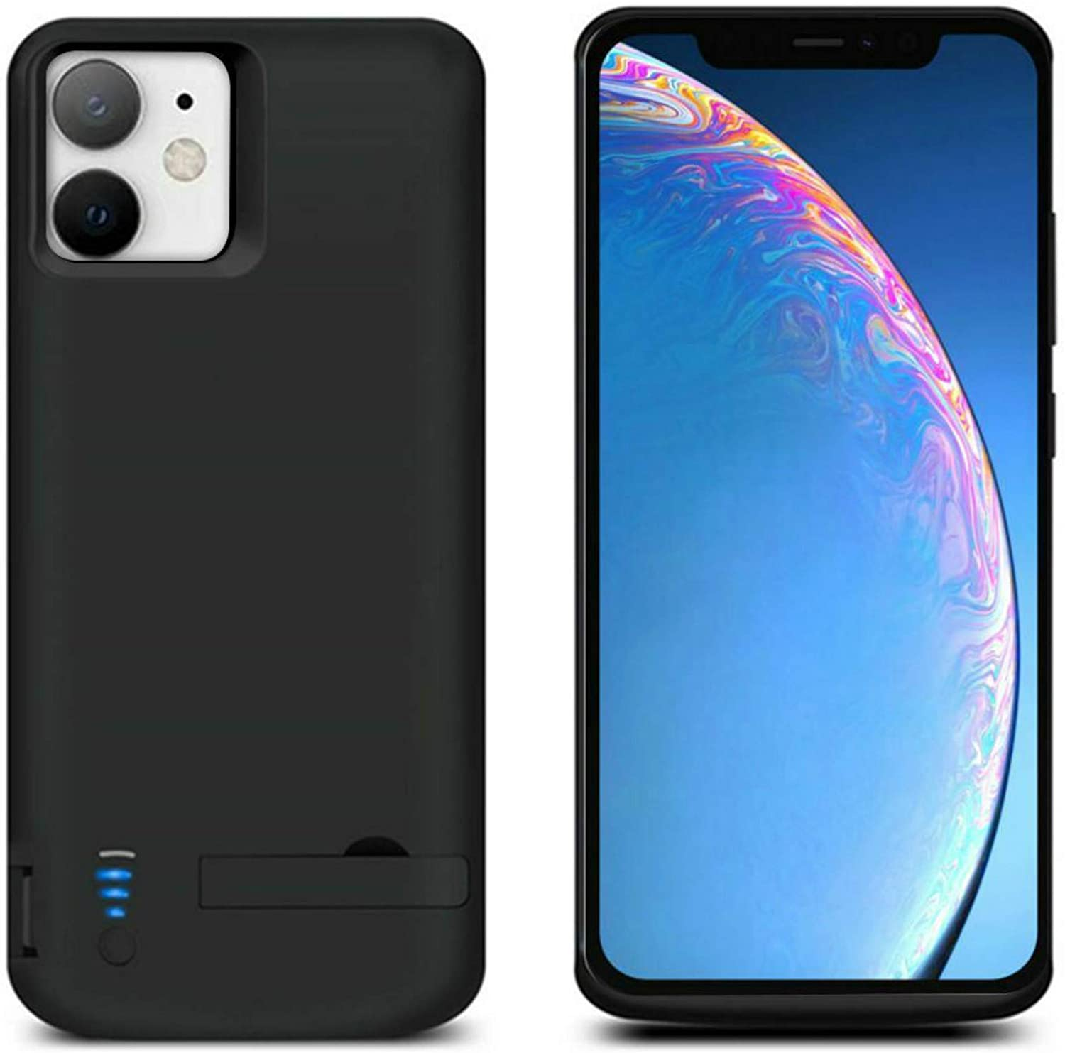 HQXHB Battery Case for iPhone 11 Pro Max [6000mAh] Portable Protective Charger Case Rechargeable Extended Battery Pack Charging Case Support Audio Function Fit for iPhone 11 Pro Max (6.5inch) - Black