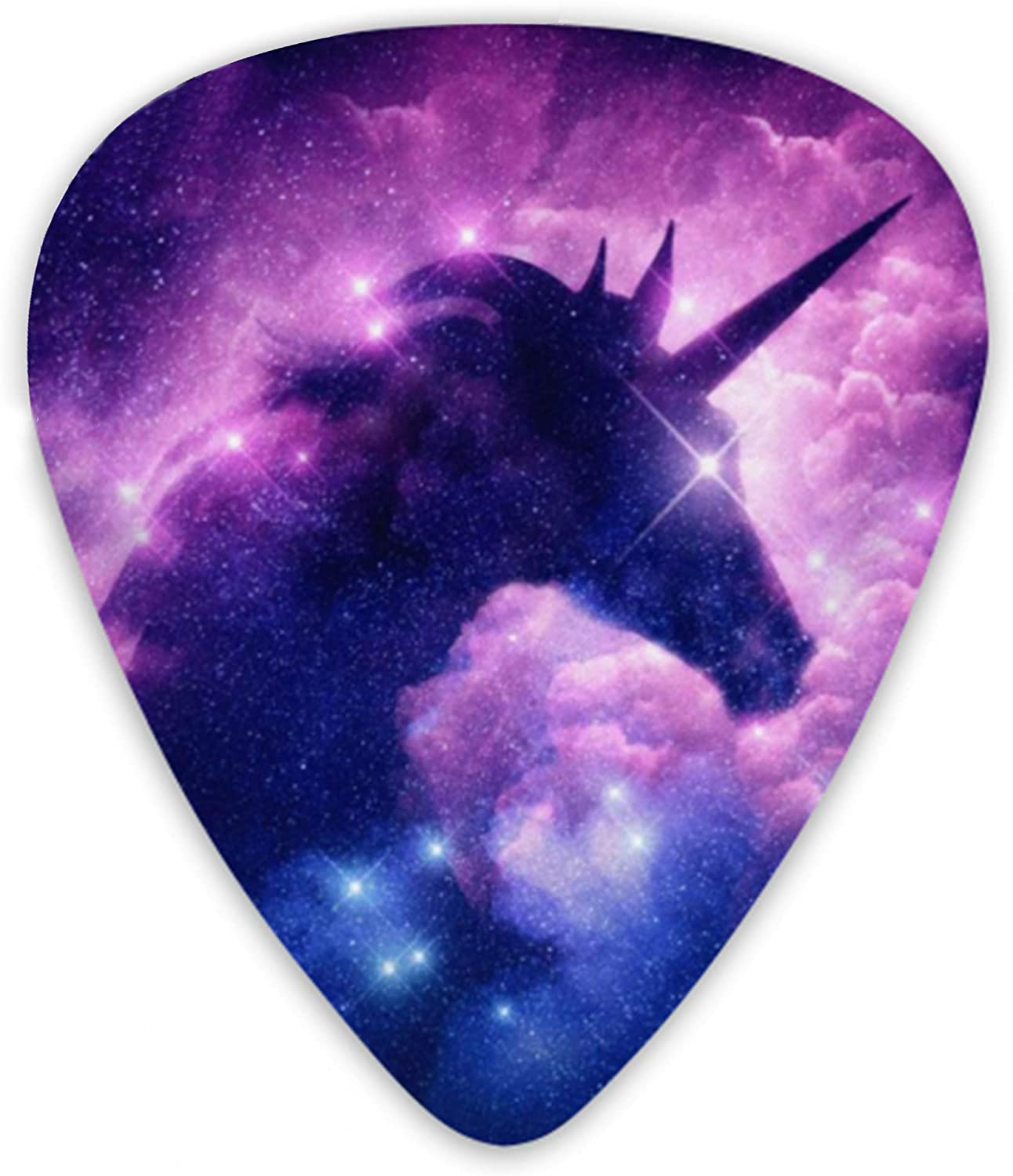 Guitar Picks Cute Unicorn Galaxy Premium Picks Sampler Includes Thin Medium And Heavy Gauge Unique Guitar Gift For Bass Electric Acoustic Guitars (12 Count)