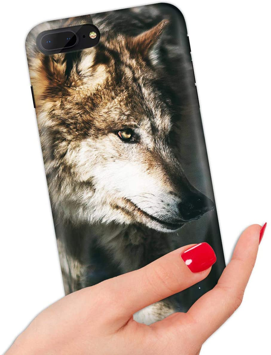 for iPhone 8, iPhone 7, Quality Art Design Soft Edge IMD Phone Case Cover, IMD IMD0104 Night Wolf