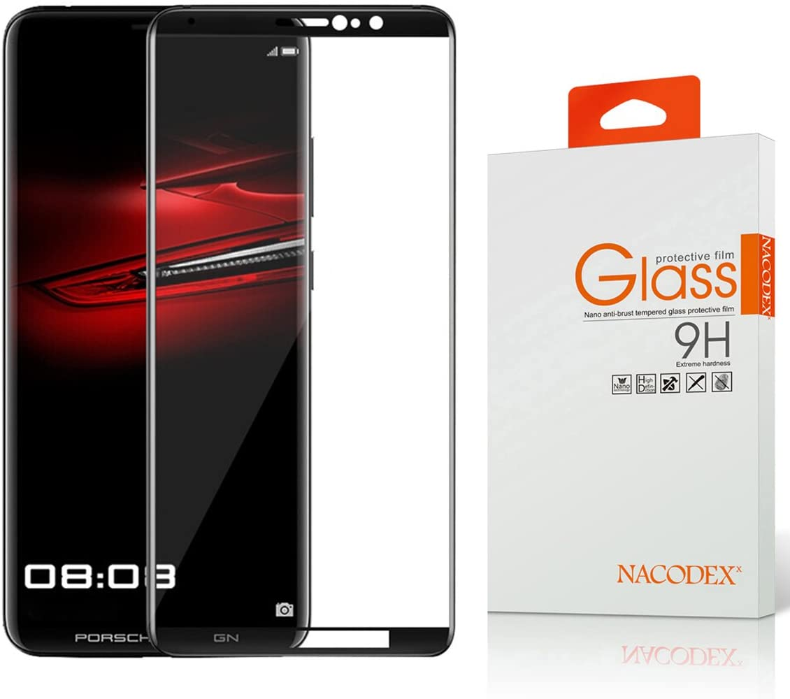 Huawei Mate RS Screen Protector,NACODEX 3D Curved Edge Full Coverage Ultra Clear Scratch Resistant Tempered Glass Screen Protector for Huawei Mate RS -Black