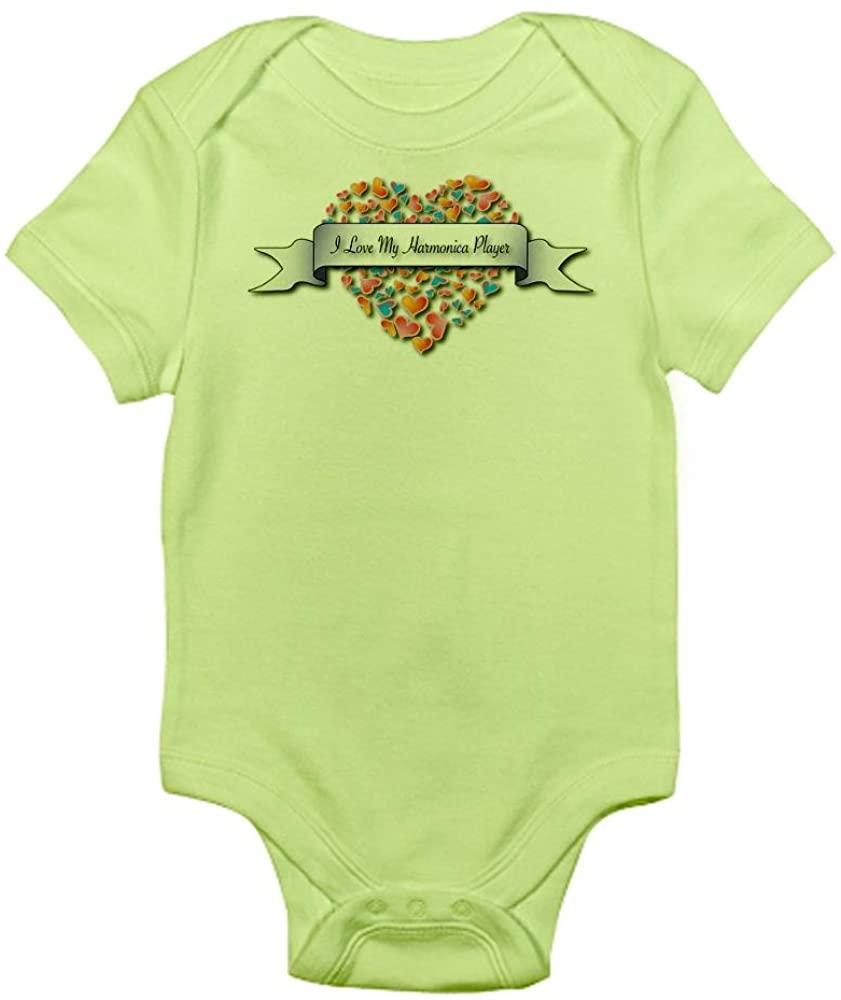 CafePress Love My Harmonica Player Infant Baby Bodysuit