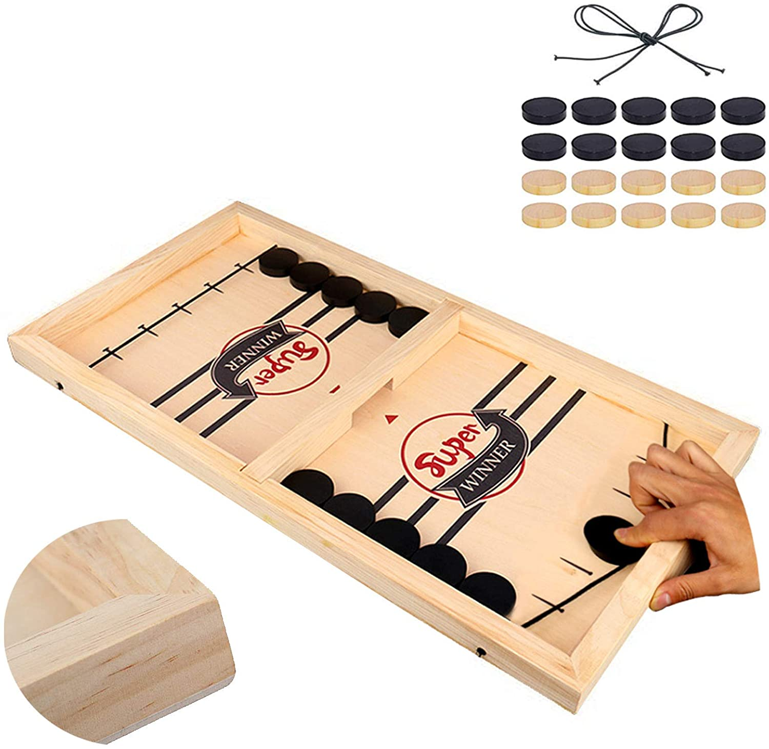 Fast Sling Puck Game , Slingshot Games Toy, Sling Foosball, Paced Winner Board Games Toys for Kids & Adults,Funny Table Hockey Games,Large Size