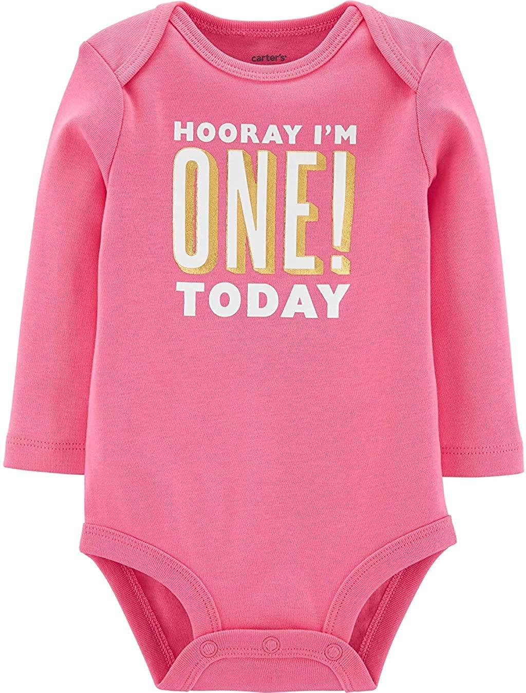Carters Baby Girls Im One Today Birthday Bodysuit