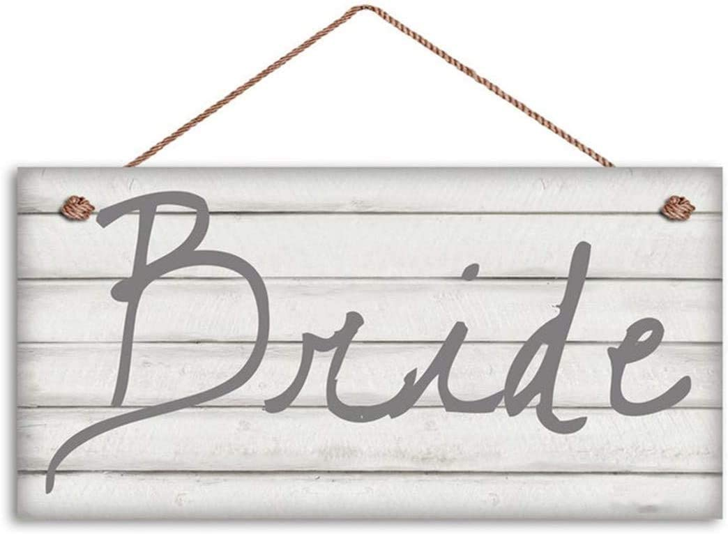 WEIMEILD Bride and Groom Signs, Wedding Sign, Shabby Chic Wood, Mr. and Mrs, 6