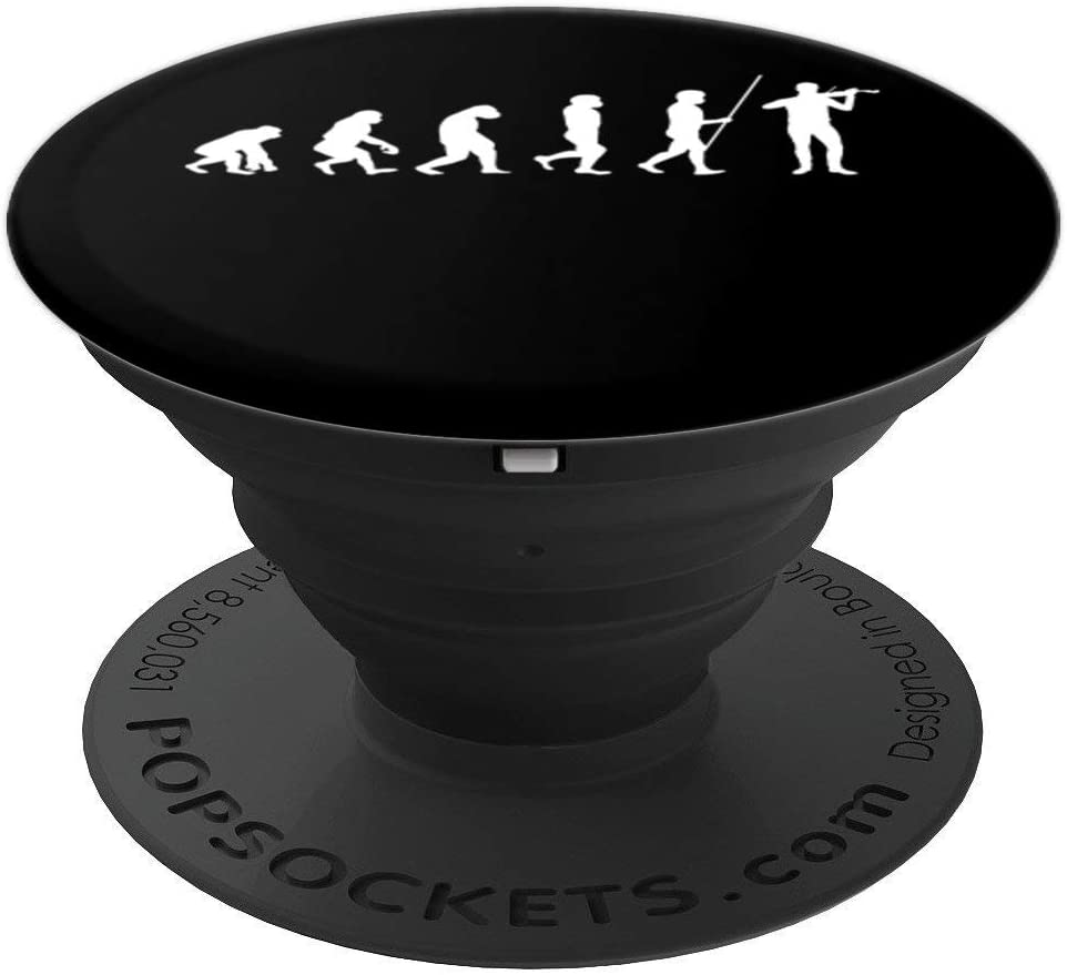 Evolution violin violinist player PopSockets Grip and Stand for Phones and Tablets