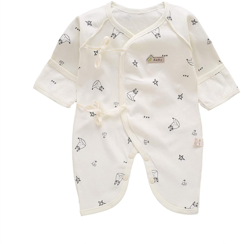 Ohrwurm Kimono Robe, 0-3 Months Newborn Pure Cotton Baby Romper Japanese Pajamas Bodysuit