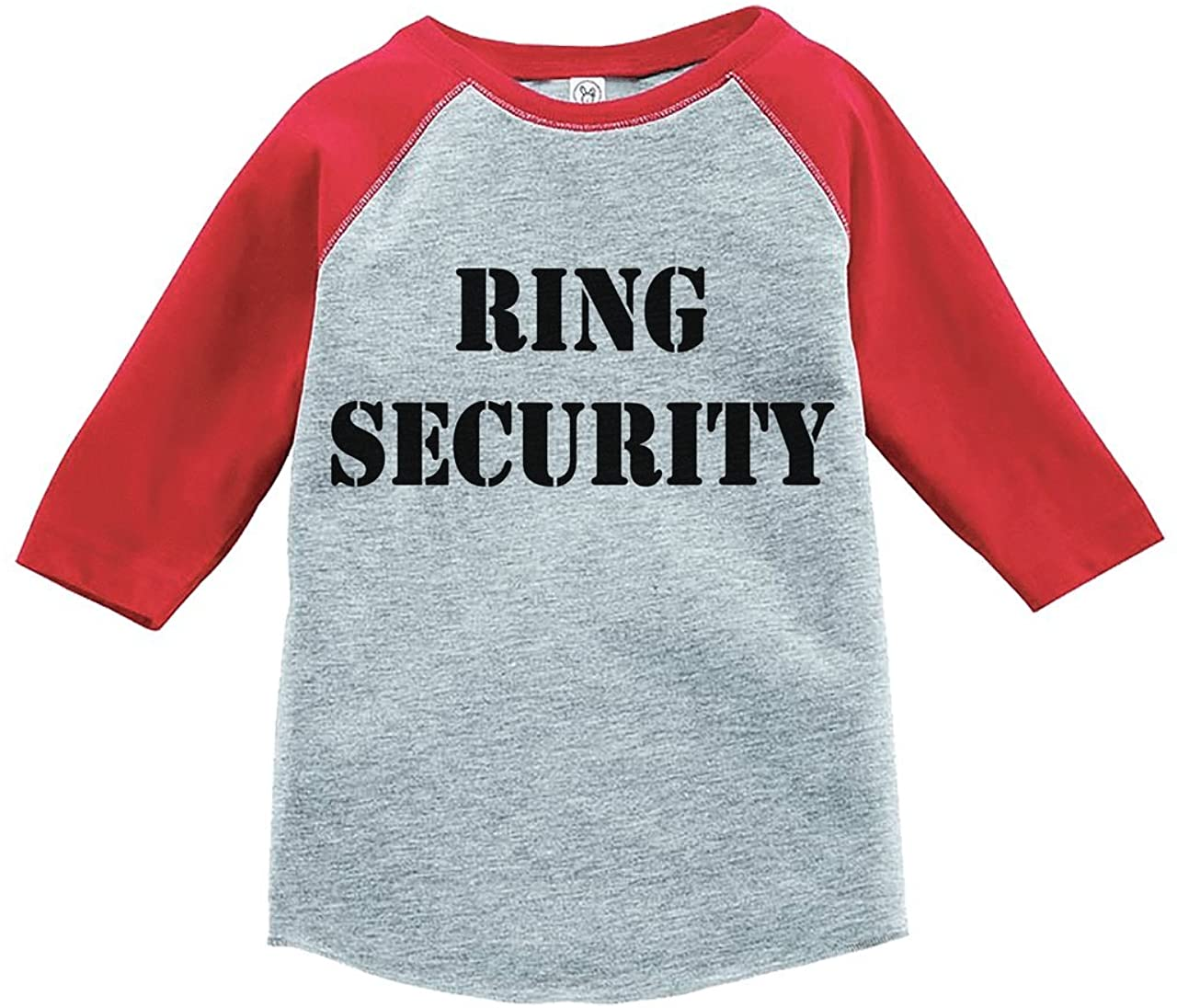 Custom Party Shop Toddler Boys Ring Security Wedding Red Raglan
