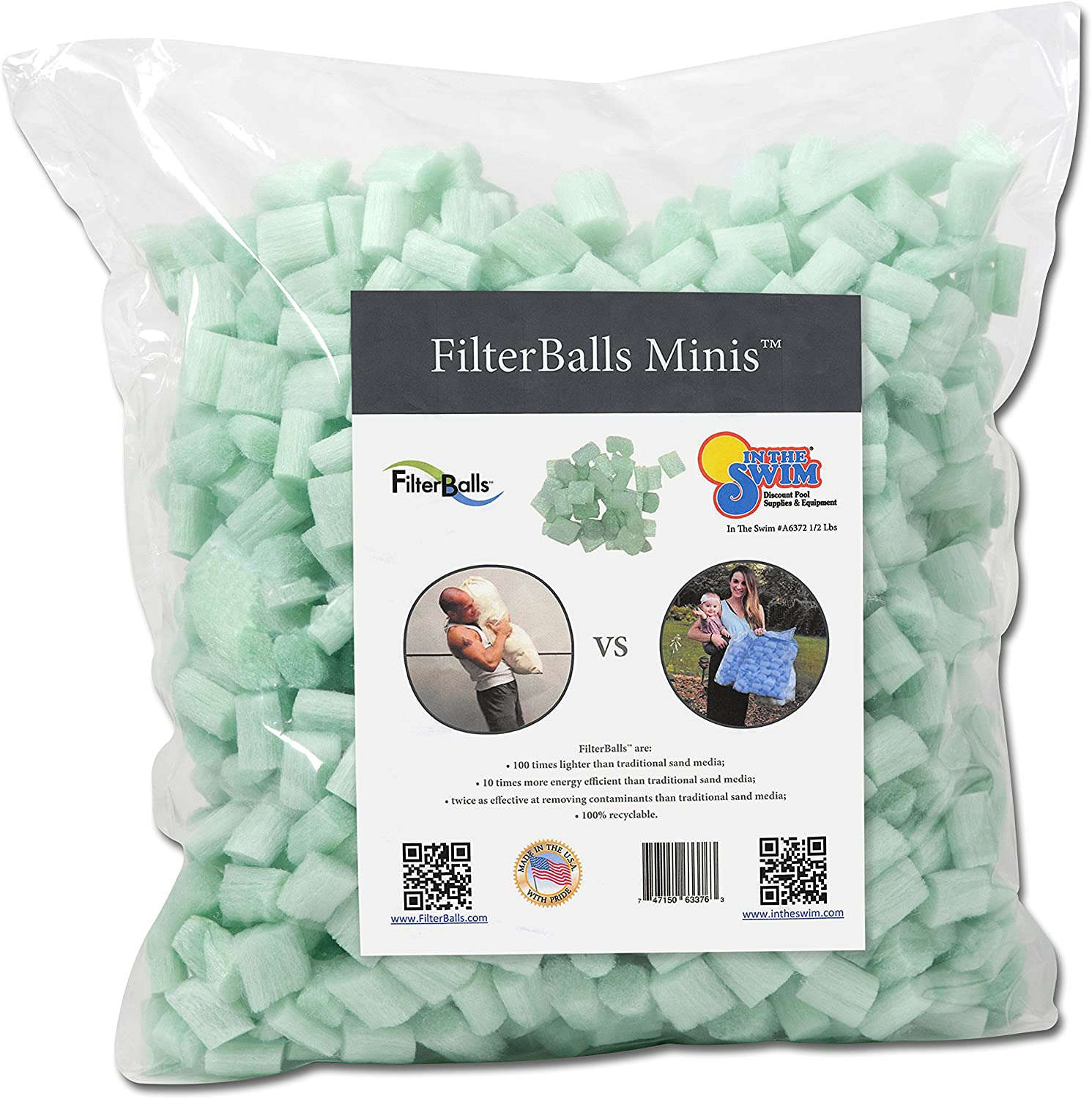 In The Swim FilterBalls Minis Advanced Sand Pool Filter Media, 1/2 Pound