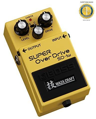 Boss SD-1W Super Overdrive Waza Craft Special Edition with 1 Year EverythingMusic Extended Warranty Free