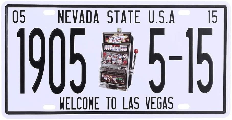 ATOBART Metal License Plate Souvenir Nevada State USA Vintage Retro Rustic Metal Tin Sign Pub Wall Decor Art 12x6Inch