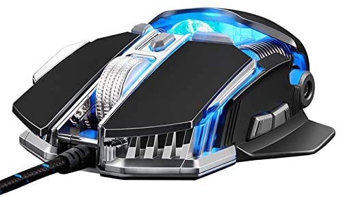 YL Mouse Gaming Wired Gaming Mouse Laptop Desktop Computer Mechanical Aggravate USB CF/LOL Mute Office Home Internet Cafe