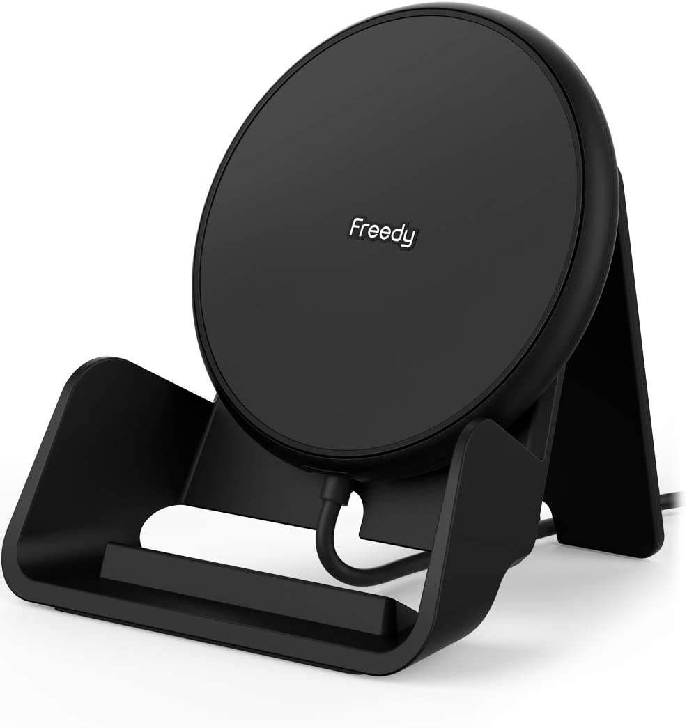 Freedy 10W Qi Certified Wireless Charger Pad Expansion Pack Designed for Qi-Enabled Phones - [Qi-Certified &Fast] - Black