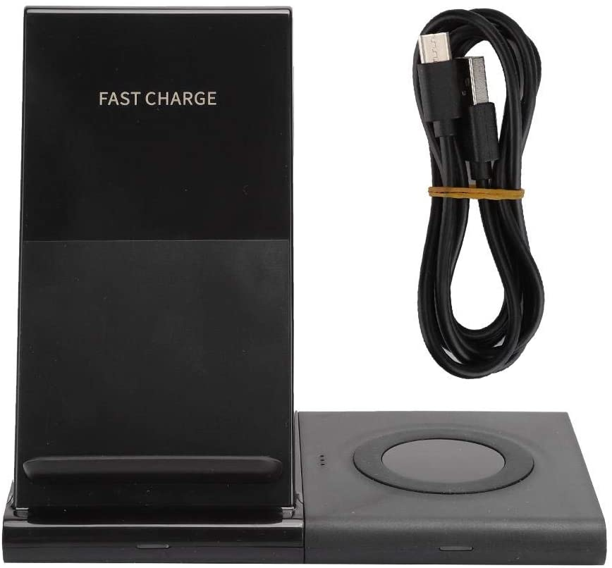 Boquite Double Coil Structure Multi-Function Charger, Watch Wireless Charger, Over-Pressure Protection High Efficiency Mobile Phone for Smartphone