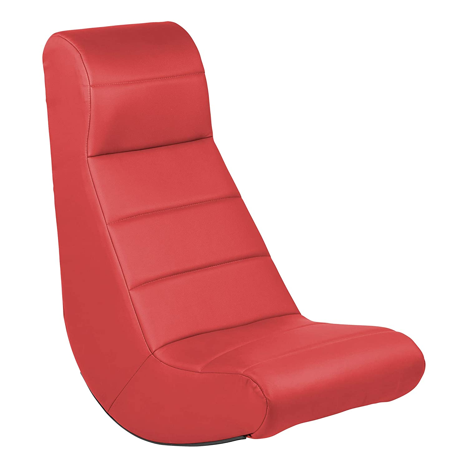 Sprogs Soft Casual Floor Rocker for Gaming, Classroom, Playroom, Reading or TV Watching - Red