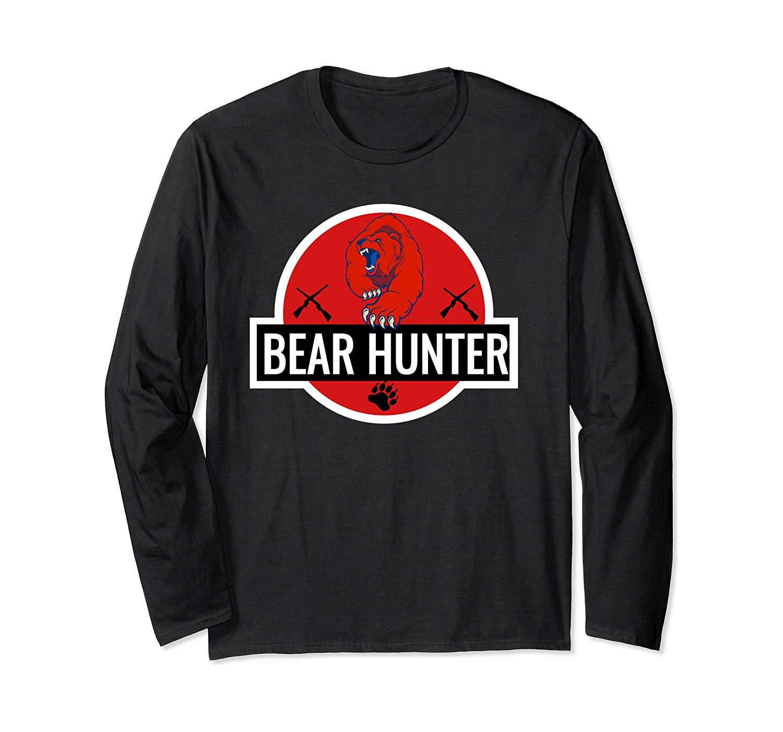 Outdoor Bear Hunter Long Sleeve T-shirt Hunting