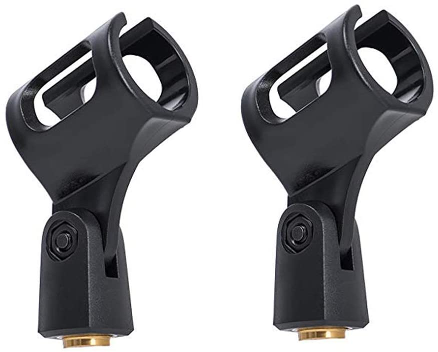 2-Pack MH4W Microphone Clips for all Handheld Transmitters such as Sm57 Sm58 Sm86 Sm87