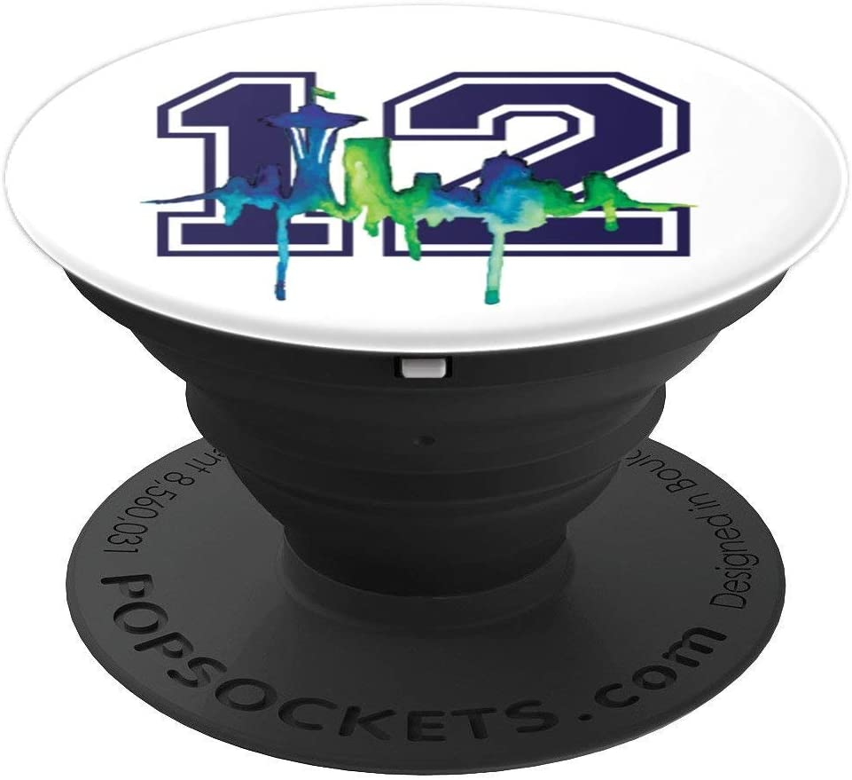 Seattle Football Fan - city skyline 12 PopSockets Grip and Stand for Phones and Tablets