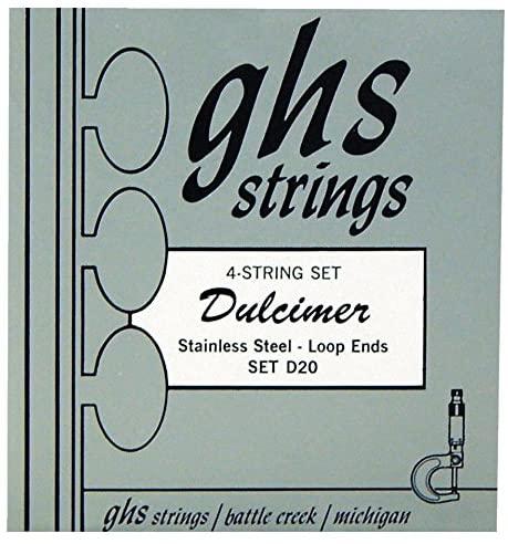 GHS Dulcimer Loopend Stainless Steel Strings 12-20 D20