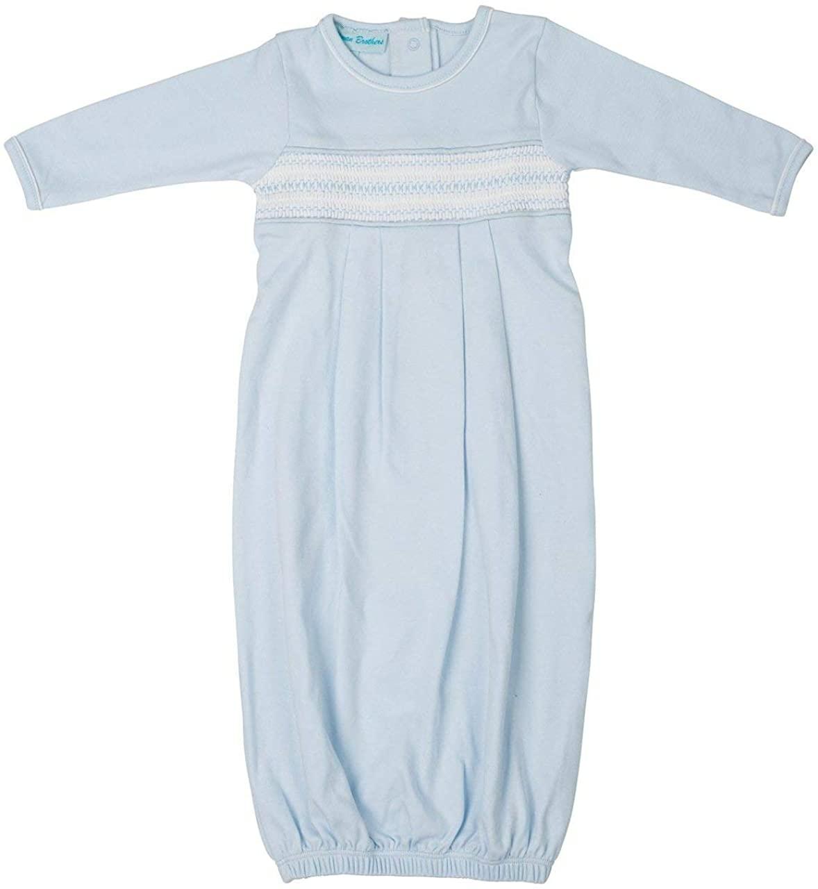 Feltman Brothers Baby Boy's Blue Smocked Diamond Gown