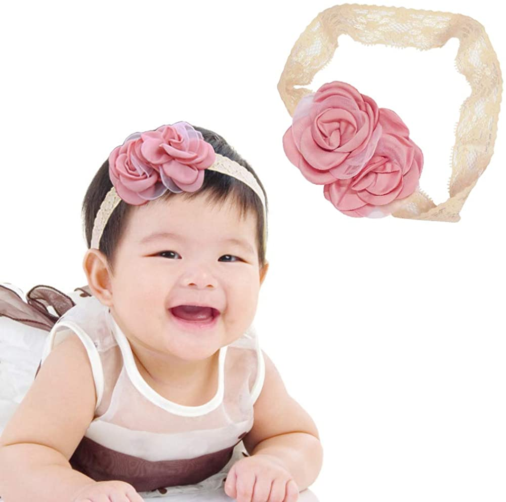 Baby Girls Flower Headbands,Toddler Girl Hair Accessories,Baby Photo Props for Birthday Party or Daily Life