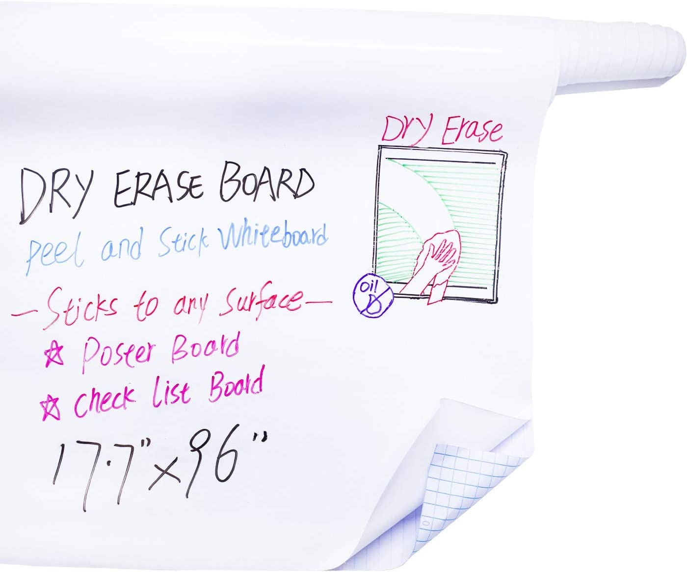 Whiteboard Dry Erase Board Wall Sticker Roll 17.3