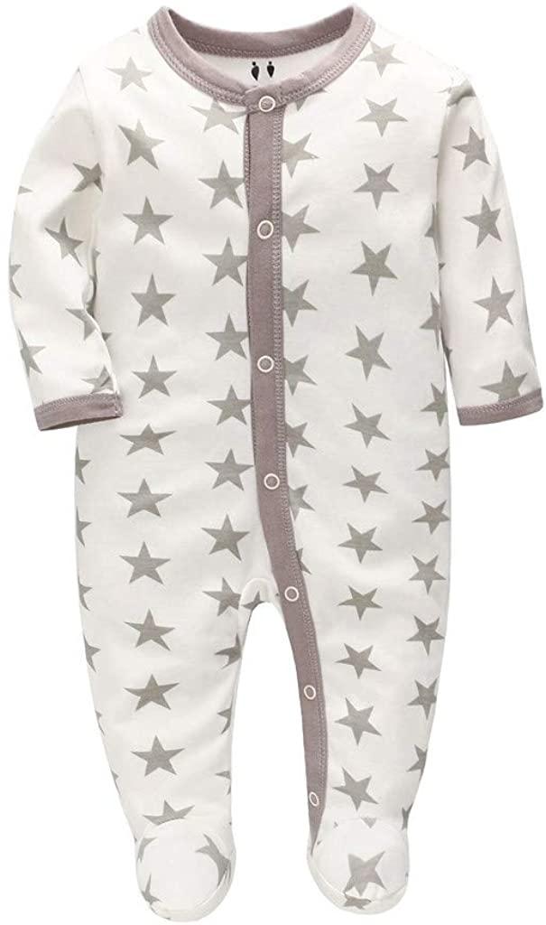 Danmeifu Baby Girls and Baby Boys' Sleep Play Bodysuit
