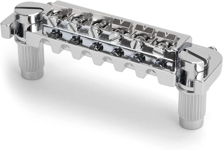 Golden Age Adjustable Wraparound Bridge for Solidbody Guitar, Chrome