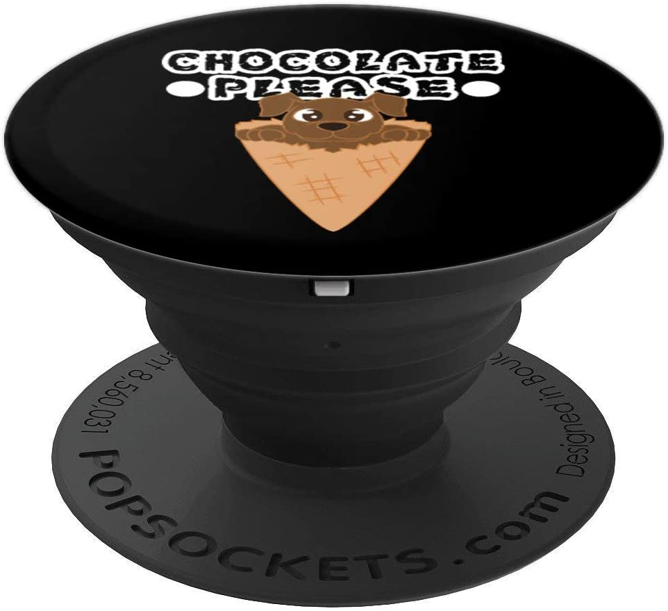 Dog Gift - Food Lover Chocolate Please PopSockets Grip and Stand for Phones and Tablets