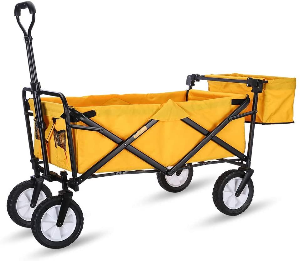 WHITSUNDAY Collapsible Folding Garden Outdoor Park Utility Wagon Picnic Camping Cart 8
