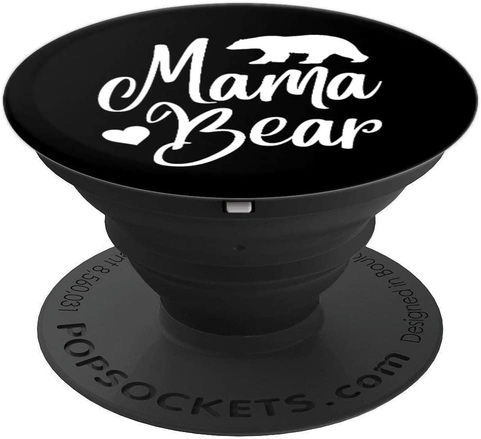 Mama Bear Phone Holder Knob - Momma Gift PopSockets Grip and Stand for Phones and Tablets