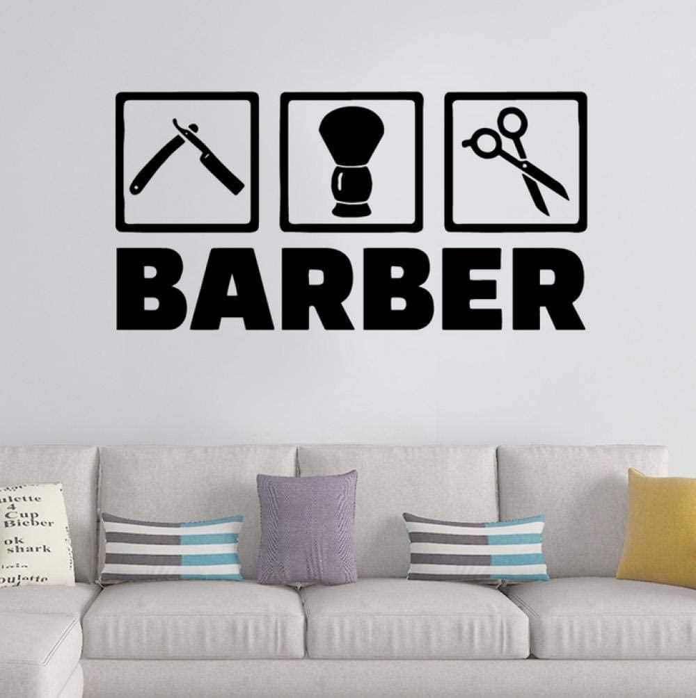 dsajgker 42X83Cm Colorful Barber Shop Wall Stickers Home Decor Girls Bedroom Sticker Nursery Kids Room Wall Decor Waterproof Sticker