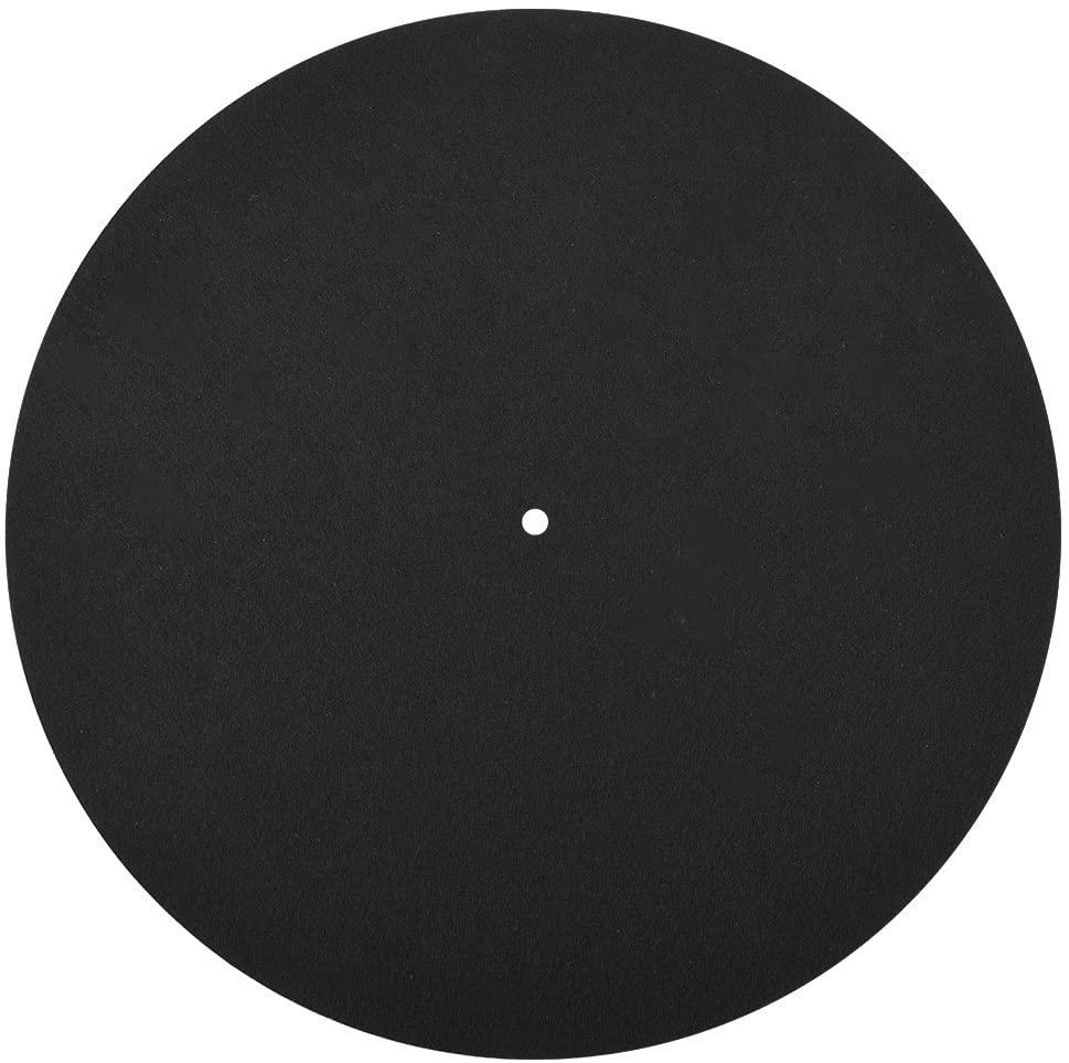 Ciglow Turntable Record Mat, Turntable Platter Mat Ultra-Thin Anti-Static Vinyl Soft Mat Slipmat Mat Pad
