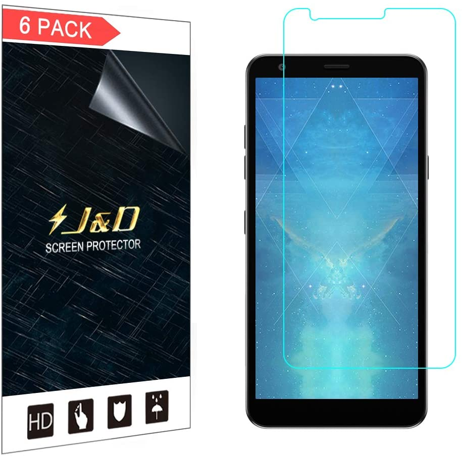 J&D Compatible for LG Aristo 4 Plus/LG Aristo 4+/LG Prime 2 Screen Protector (6-Pack), Not Full Coverage, HD Clear Protective Film Shield Screen Protector for LG Aristo 4+ Crystal Clear Film