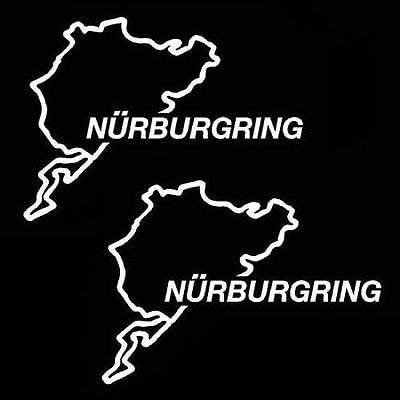 Nurburgring Track Decal Sticker Outline Vinyl Race Track iPad Car Window , Die cut vinyl decal for windows, cars, trucks, tool boxes, laptops, MacBook - virtually any hard, smooth surface