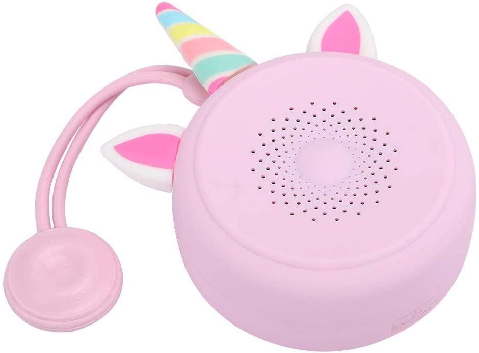 Bluetooth Speaker Pink Waterproof, Unicorn Cartoon Wireless Bluetooth Portable Speaker Desktop Wireless Music Player for Camping/Beach/Sports/Shower