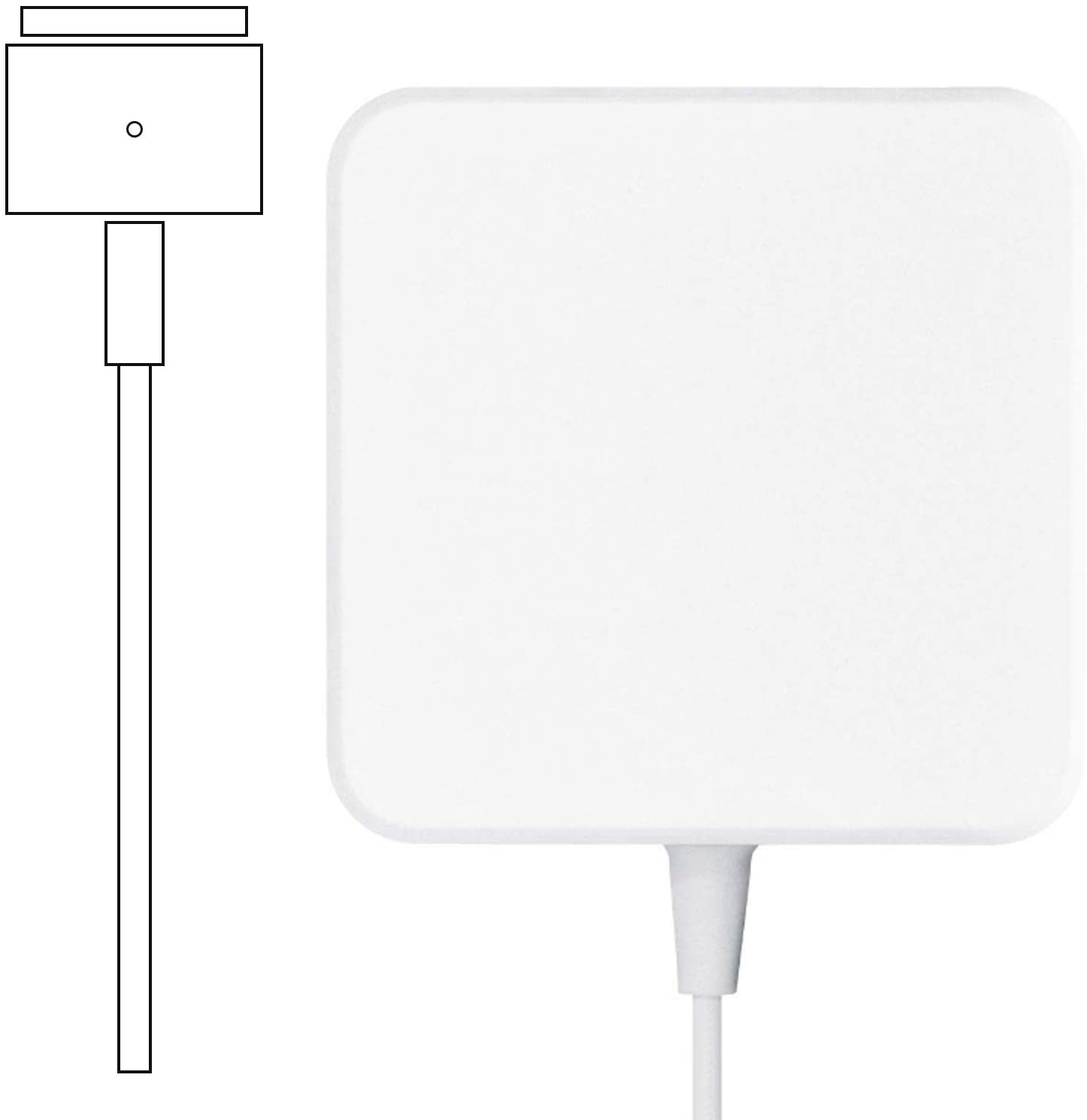 Mac Book Pro Charger, Replacement Magnetic 60W T-Tip, Power Adapter Compatible with Mac Book Charger/Mac Book air( After Late 2012)